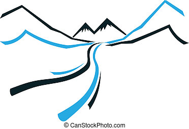 Road Mountain and Valley icon