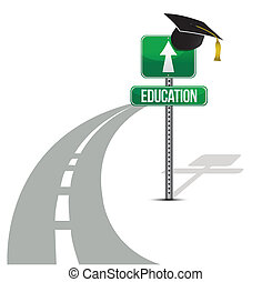 road to education illustration
