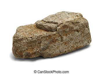 Single Stone Isolated on White Background.