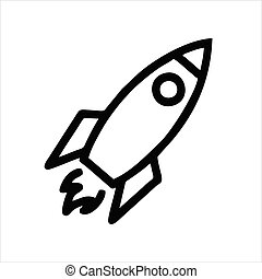 Rocket icon isolated on white background. Rocket icon in trendy design style.