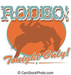 Rodeo Western Cowboy Sign Clip Art