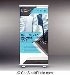 roll up stand banner template layout
