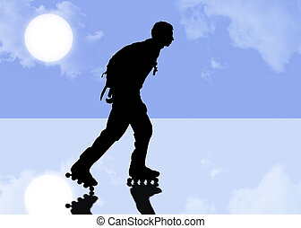 roller with clipping path