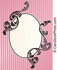 Romantic French retro oval frame in pink