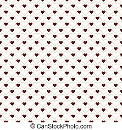 Romantic seamless pattern with hearts. Beautiful vector illustration. Background. Endless texture can be used for printing onto fabric and paper or scrap booking.