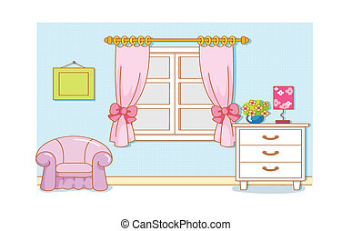 Room Cartoon illustration