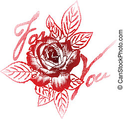 rose for your label