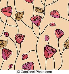 Rose seamless pattern pink
