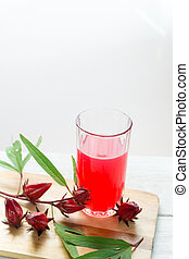 Roselle juice for health. a drink for good health