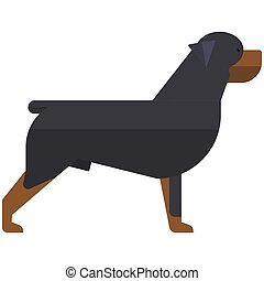 Rottweiler dog vector breed puppy animal icon