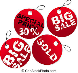 Round paper tags for sale