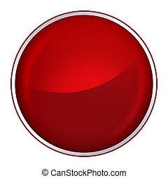 round red button with free blank space