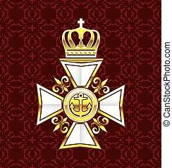 Royal Gold White Navy Cross