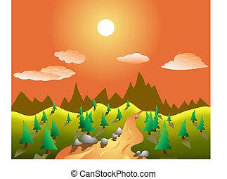 rual vector landscape