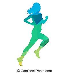 Run, woman