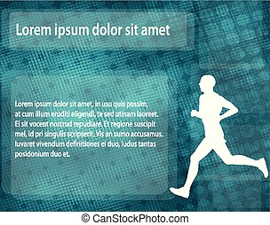 runner silhouette on the abstract background
