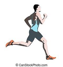 Runner. Vector illustration