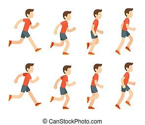 Running man animation.