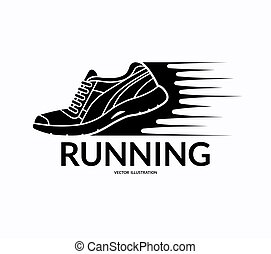 Running shoe icon. Vector illustration