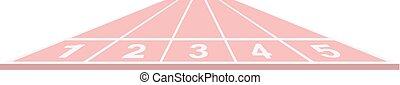 Running track in pink design