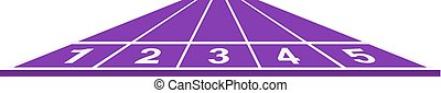 Running track in purple design