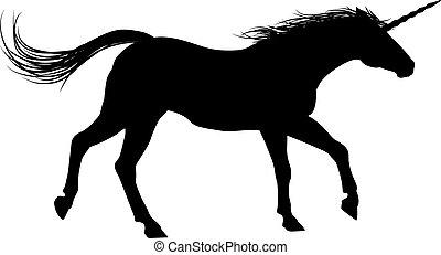 Running Unicorn Silhouette