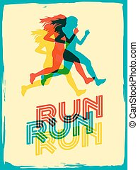 running woman poster