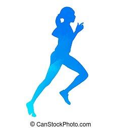 Running woman silhouette