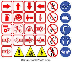 Safety sign set vector