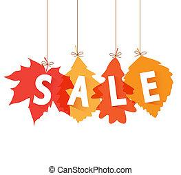 Vector illustration sale tags for autumn season