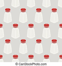 Salt pepper spicy sugar seamless pattern vector isolated wallpaper background white