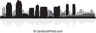 San Diego USA city skyline silhouette vector illustration
