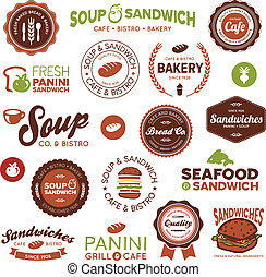 Sandwich bistro labels