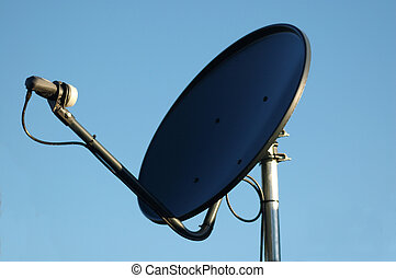 Close- up of a TV and Internet Satellite dish.