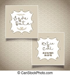 Save the date invitation design