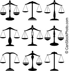 vector scale of justice set