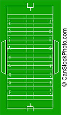 Scale Vector Illustration of an Amemerican football field
