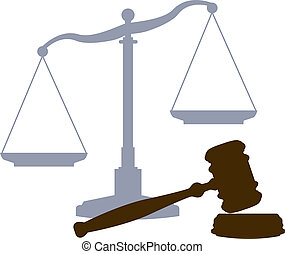 Scales and Gavel as symbols of the law lawyers and the legal justice court system
