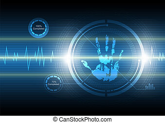 scan handprint technology background