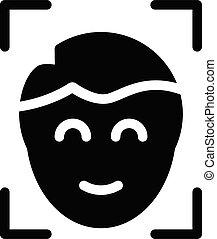 scanning vector glyph flat icon