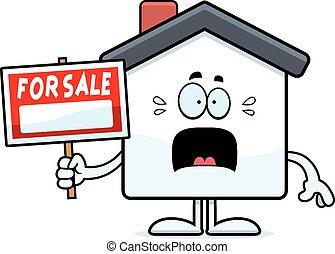 Scared Cartoon Home Sale