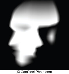 face silhouette with illustion of 2 faces.