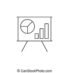 Schedule on the whiteboard line icon