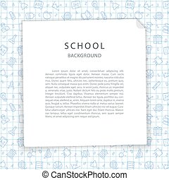 School Background with Squared Sheet