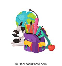 school backpack composition