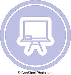 school blackboard circular icon
