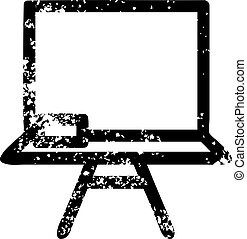 school blackboard distressed icon
