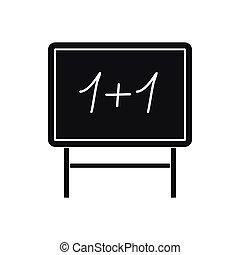 School blackboard icon, simple style