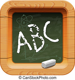 School blackboard icon