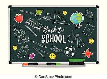 school blackboard vector